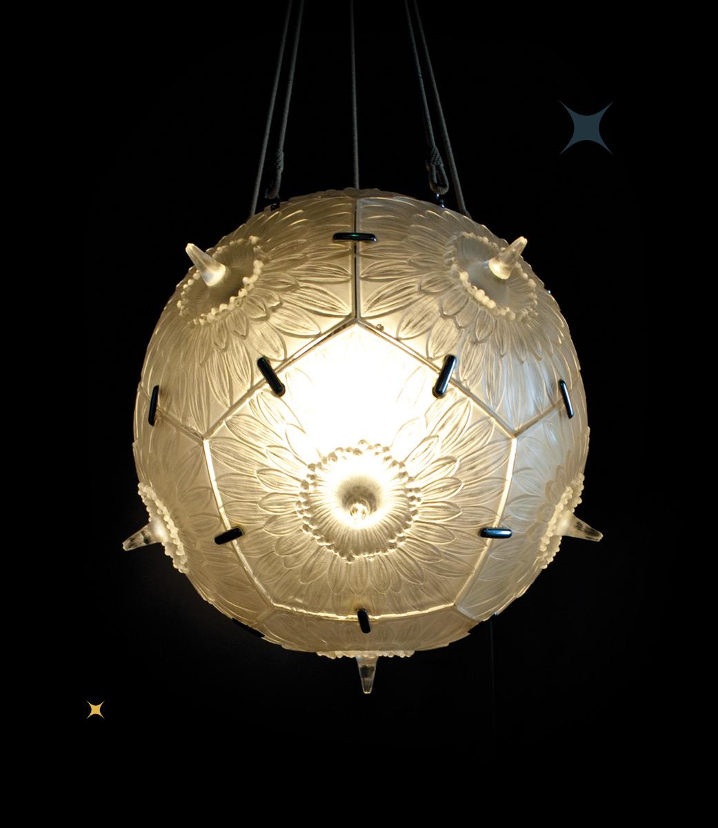Photo d'une sphère lumineuse